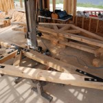 Detail of Timber Trusses for RREC